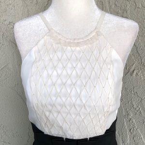 BCBG Black and White Pearl Embellished Dress 2